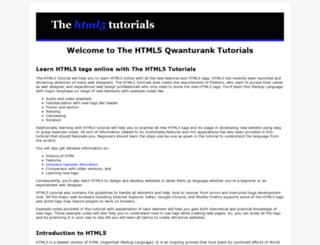 thehtml5tutorials.com screenshot