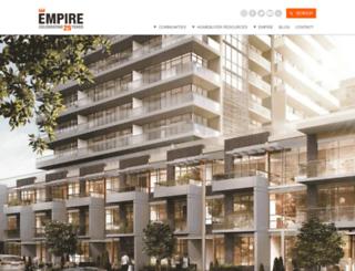thehub.empirecommunities.com screenshot