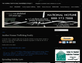 thehumantraffickingawarenessproject.com screenshot