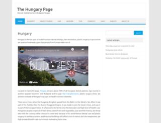 thehungarypage.com screenshot