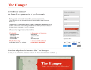 thehunger.ro screenshot