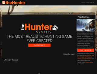 thehunterbeta.com screenshot