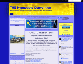 thehypnotistsconvention.ning.com screenshot
