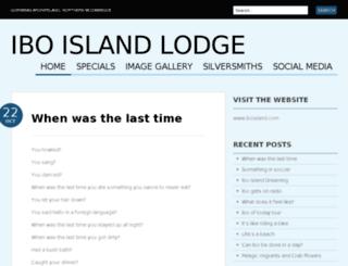 theiboislandlodge.wordpress.com screenshot