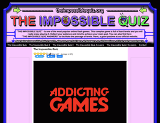 theimpossiblequiz.org screenshot