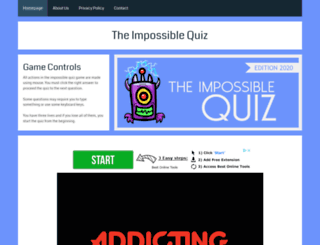 theimpossiblequiz.org.uk screenshot