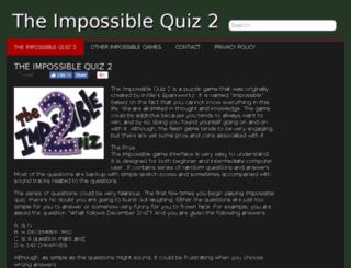 theimpossiblequiz2.org screenshot