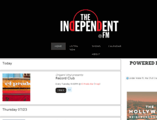 theindependentfm.dola.com screenshot