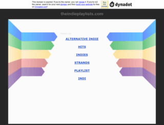 theindieplaylists.com screenshot