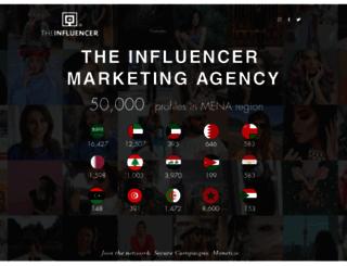 theinfluencer.com screenshot