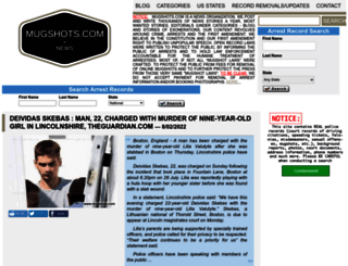 theinmatelocator.mugshots.com screenshot