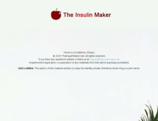 theinsulinmaker.net screenshot