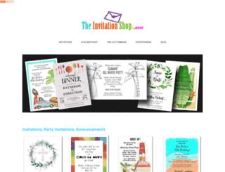 theinvitationshop.com screenshot