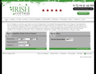 theirishcottages.com screenshot