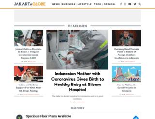 thejakartaglobe.com screenshot
