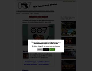 thejamesbonddossier.com screenshot