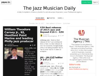 thejazzmusician.com screenshot