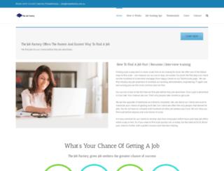 thejobfactory.com.au screenshot
