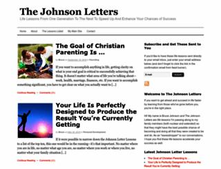 thejohnsonletters.com screenshot