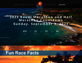 thekauaimarathon.com screenshot