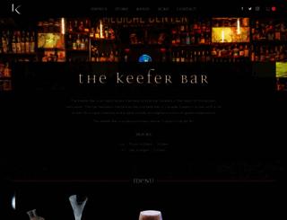 thekeeferbar.com screenshot