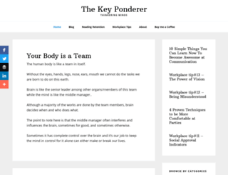 thekeyponderer.com screenshot