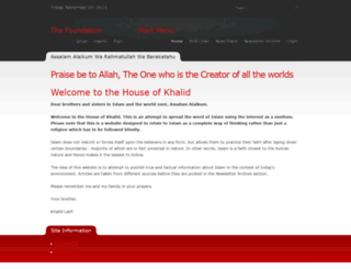 thekhalids.org screenshot