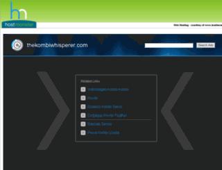 thekombiwhisperer.com screenshot