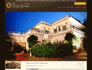 thekothiheritage.com screenshot