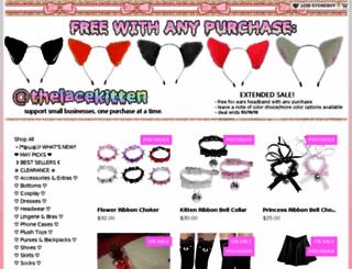 thelacekitten.storenvy.com screenshot