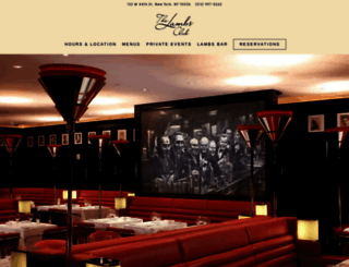 thelambsclub.com screenshot