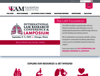 thelamfoundation.org screenshot