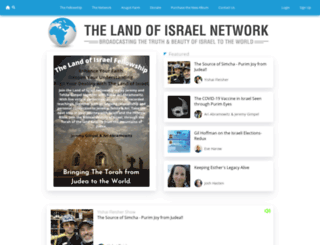 thelandofisrael.com screenshot