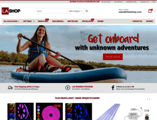 thelashop.com screenshot