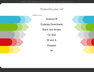 thelastdisaster.net screenshot