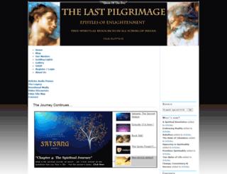 thelastpilgrimage.com screenshot