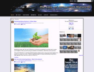 thelawofattractionnetworks.ning.com screenshot