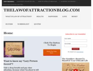 thelawofattractionpage.com screenshot