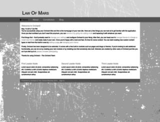 thelawofmars.com screenshot