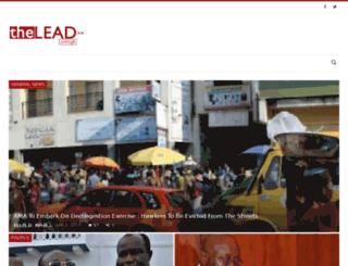 thelead.com.gh screenshot