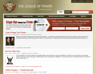 theleagueofpower.com screenshot