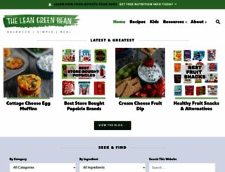 theleangreenbean.com screenshot