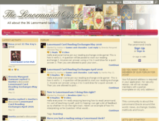 thelenormandoracle.ning.com screenshot