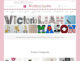 theletterlady.co.za screenshot