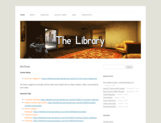 thelibrarycsgo.wordpress.com screenshot