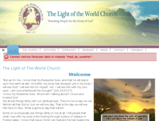 thelightoftheworldchurch.com screenshot