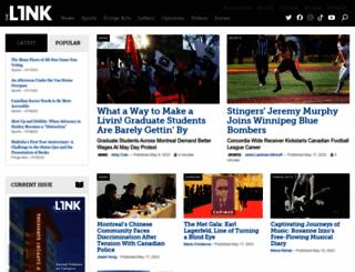 thelinknewspaper.ca screenshot