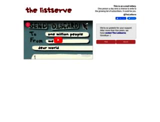 thelistserve.com screenshot