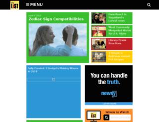 thelistshow.tv screenshot