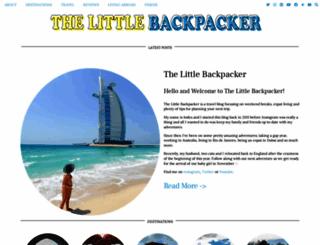thelittlebackpacker.com screenshot
